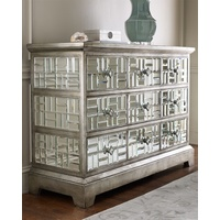 FRENCH MAZE MIRRORED CHEST - 9 DRAWER