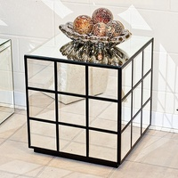 RUBIX MIRRORED SIDE / LAMP TABLE