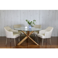 GAVA ROUND CONTEMPORARY DINING TABLE