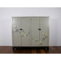 WILLOW ORIENTAL TIMBER SHOE CABINET