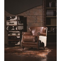 BUCK LEATHER RAWHIDE CHAIR