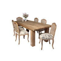 PROVINCIAL SCRIPT DINING CHAIR - NEUTRAL