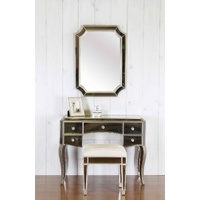 SAPHIRA MIRRORED DRESSER, STOOL AND MIRROR